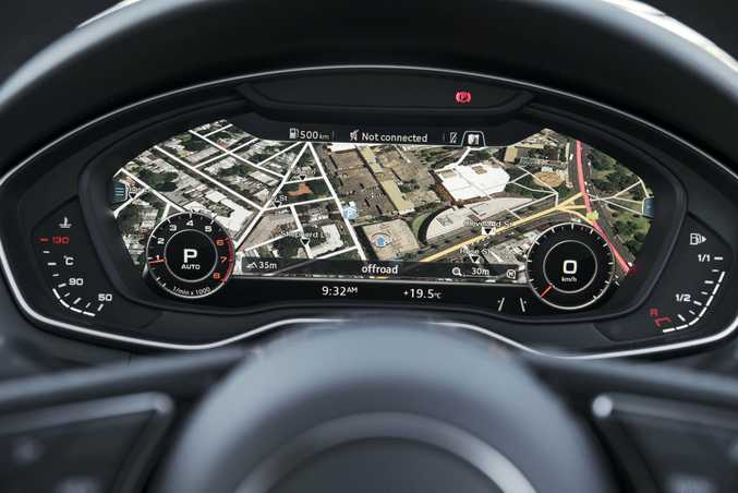 LOVE IT: Audi's wonderful Virtual Cockpit.