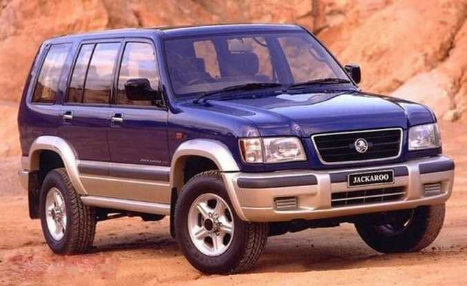 FAMILY DUTIES: Andrew Symonds' family used a Holden Jackaroo while he was growing up