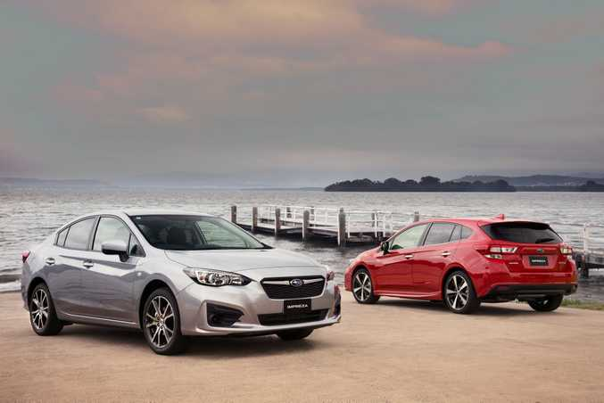 ALL CHANGE: The 2017 Subaru Impreza in 2.0i sedan and 2.0i-S hatch trims. The all-new models still feature 2.0-litre boxer engines and all-wheel-drive, but a completely new platform brings excellent balance and comfort, while the cabins are a big step up in style and functionality.