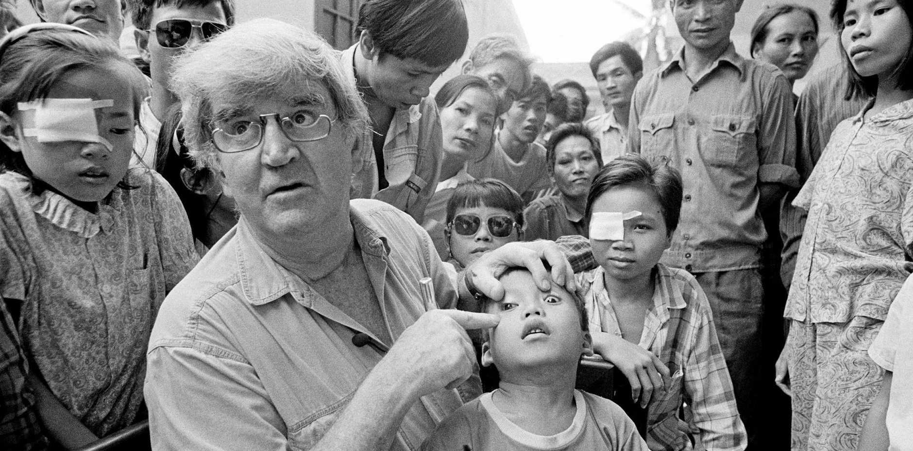 The late Fred Hollows at work in Hanoi in 1992.