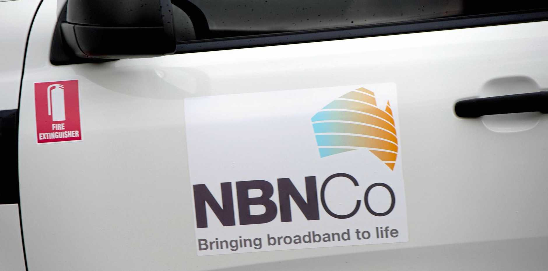 NBN truck.   Photo: Trevor Veale / The Coffs Coast Advocate