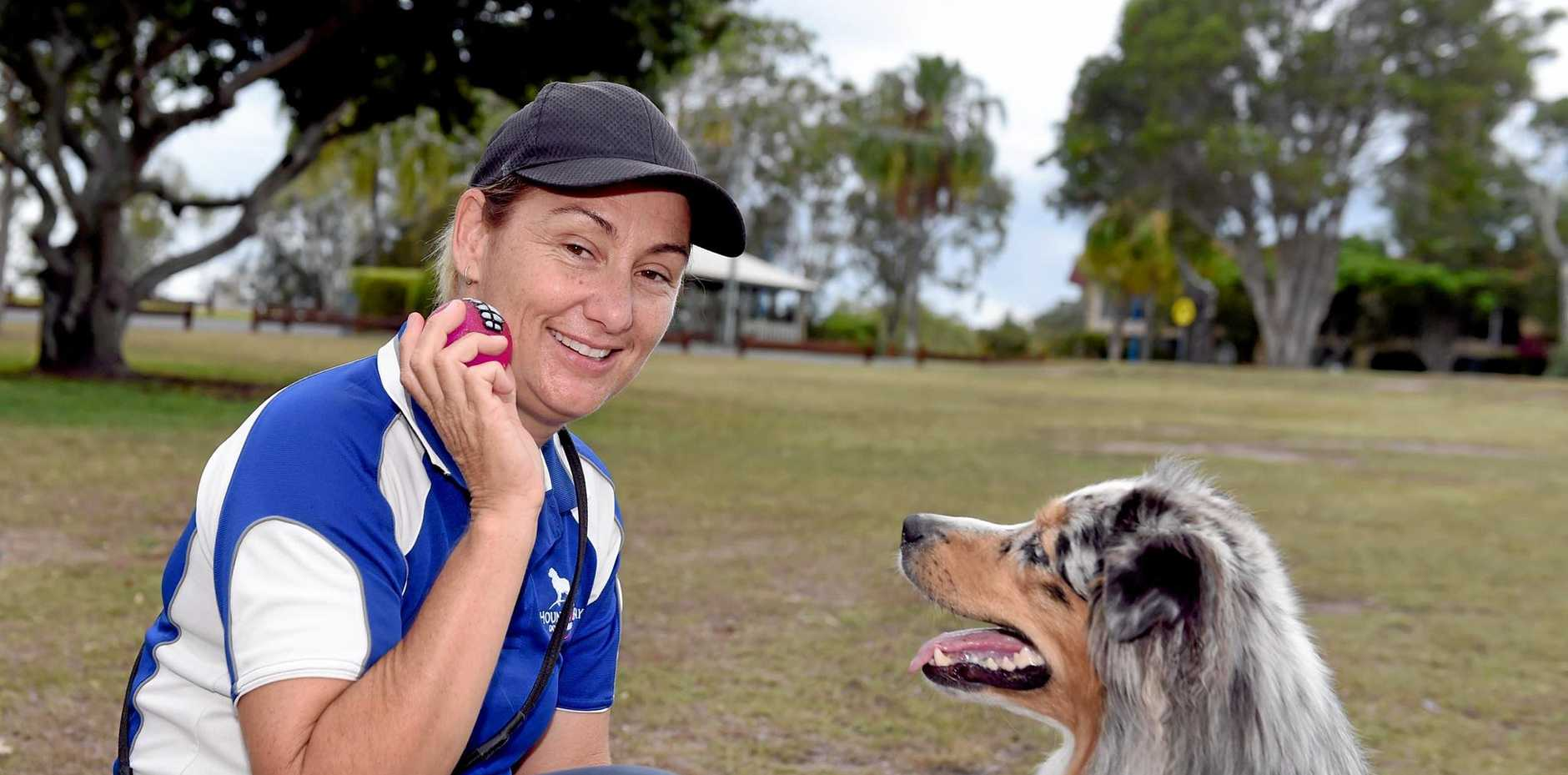Larissa Hutchings is a dog trainer who talks about the importance of giving your dog an easy to understand name.  Pictured with her dog Nova.
