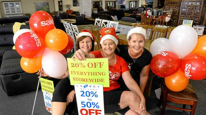 Ipswich Furniture Court is having a massive Boxing Day sale.