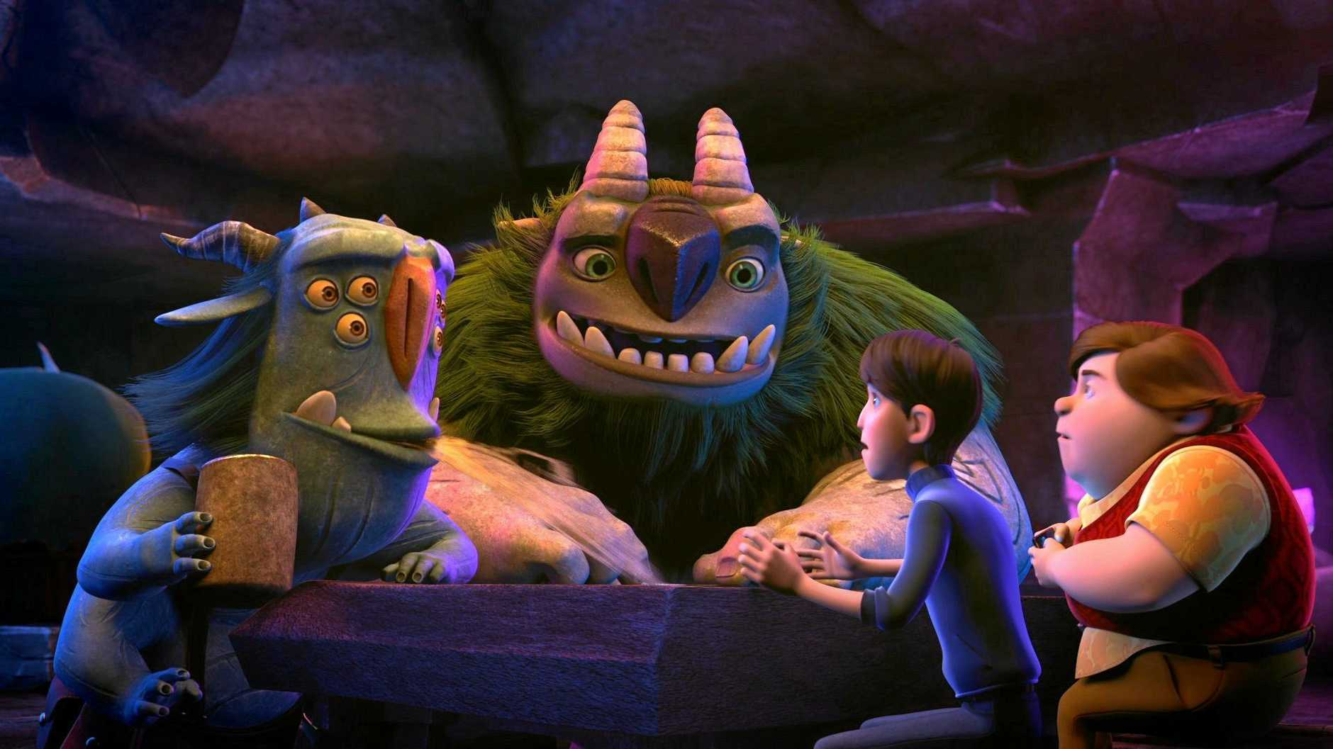 A still from the new Dreamworks show Trollhunters.