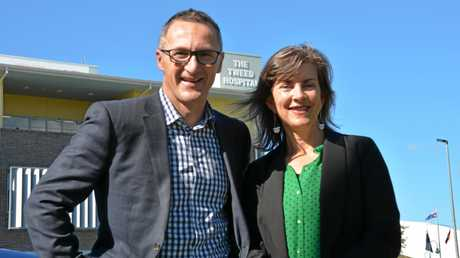 Greens' leader Richard Di Natale with Richmond candidate Dawn Walker.
