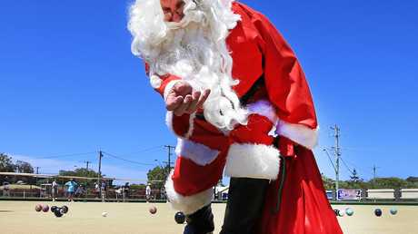 Santa visits the Pottsville Sports Club to entertain the kids in the new Kids Play area.