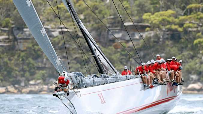 Wild Oats XI competes in the SOLAS Big Boat Challenge in Sydney on Tuesday, Dec. 13, 2016. (AAP Image/Paul Miller) NO ARCHIVING