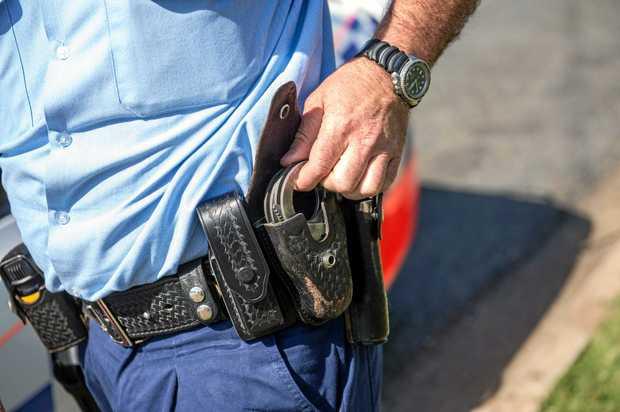 NSW police Handcuffs arrest. 07 October 2016