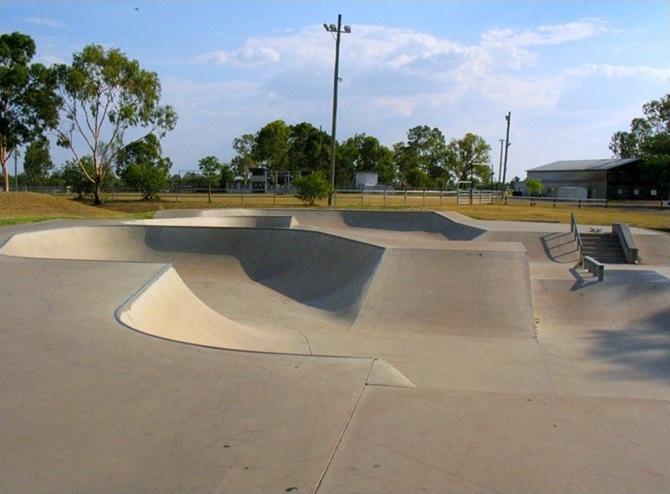 UPGRADE: Moura skate park in 2007.