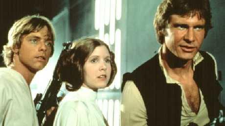 Fisher was part of the star trio of the original Star Wars movie. Picture: Supplied