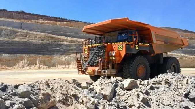 A dump truck pulls in to be loaded up at Meandu Mine.  Photo Tessa Mapstone / South Burnett Times