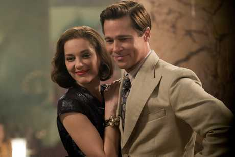 FOR REVIEW AND PREVIEW PURPOSES ONLY. Brad Pitt and Marion Cotillard in a scene from the movie Allied. Supplied by Paramount Pictures.