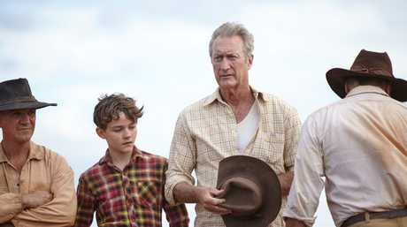 FOR REVIEW AND PREVIEW PURPOSES ONLY. Levi Miller and Bryan Brown in a scene from the movie Red Dog: True Blue. Supplied by Roadshow Films.