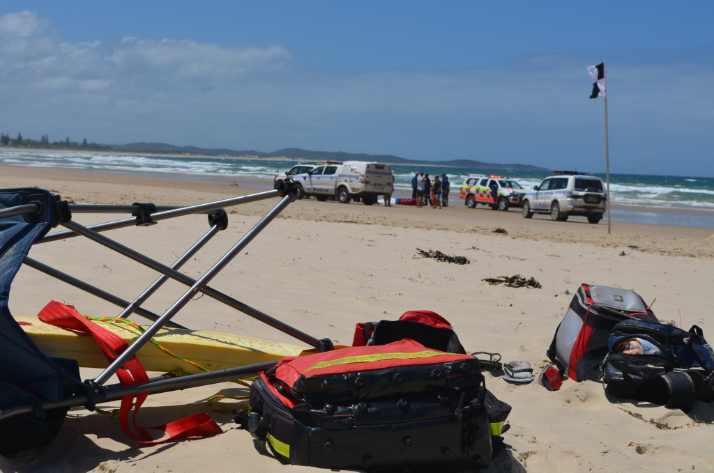 Emergency services have responded to an incident at Wooli Beach where it is believed a man has died