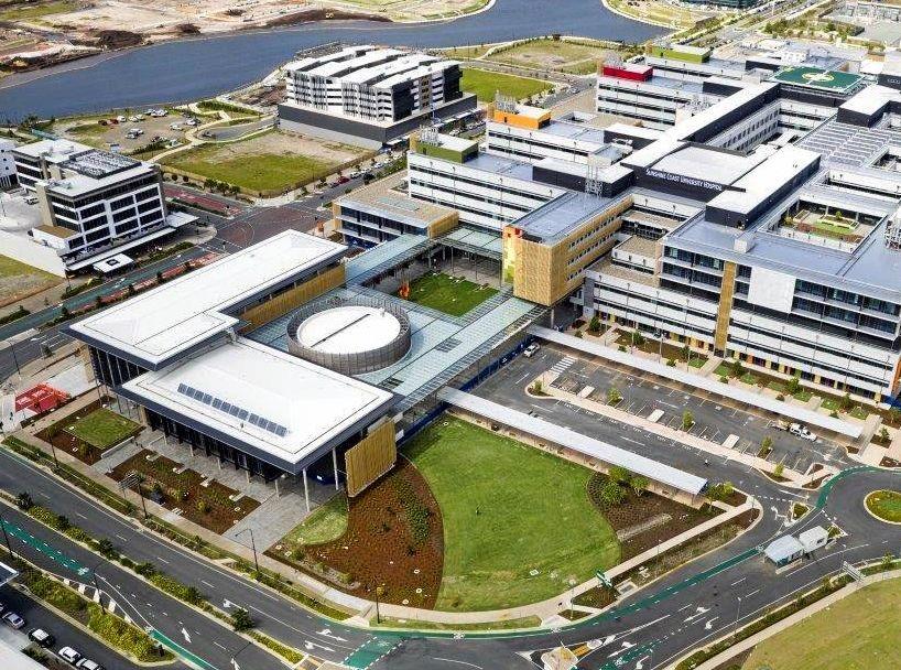 How the new Sunshine Coast Hospital looks now.