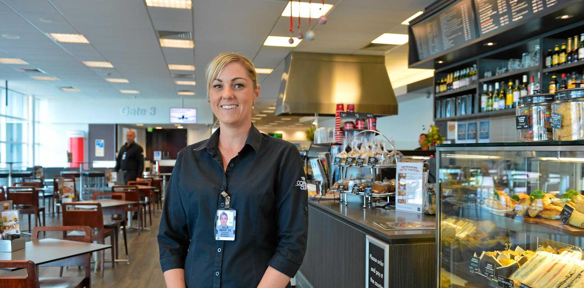 TOP BREW: Coffee Club franchise owner Donnella Merrett loves her new job.