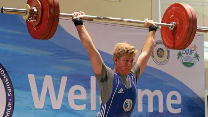 Toowoomba weightlifter Shane Wagner competes.