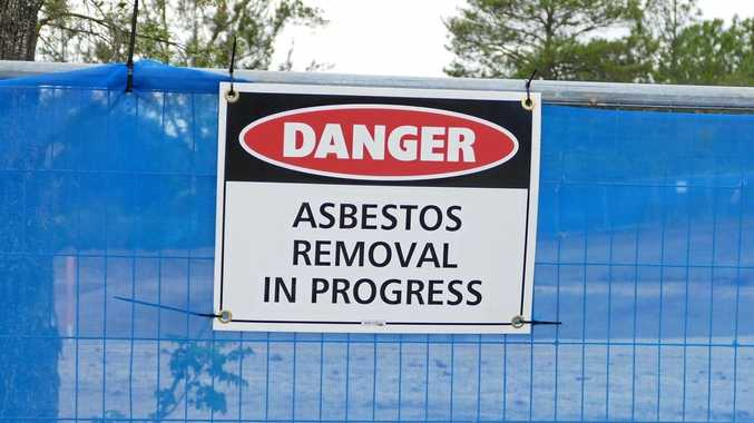 Residents have complained the asbestos warning signs around the depot site are not big enough.