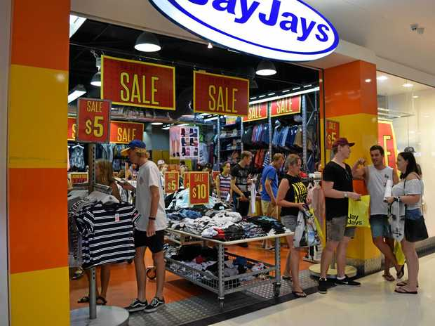 Jay Jays clothing store at Lismore Shopping Square packed with bargain hunters and floor-to-ceiling stock on sale on Boxing Day 2016.