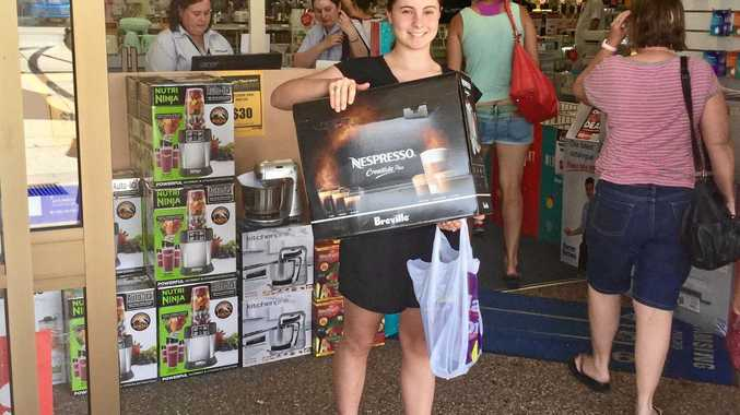 SPENDING UP: Tess McArdle from Brisbane was among the shoppers looking for a bargain at Harvey Norman's Boxing Day sale in Warwick.