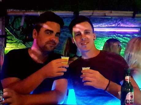 Dave and a mate soak up the Bali night-life.