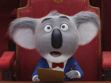 Matthew McConaughey voices koala Buster Moon in Sing.