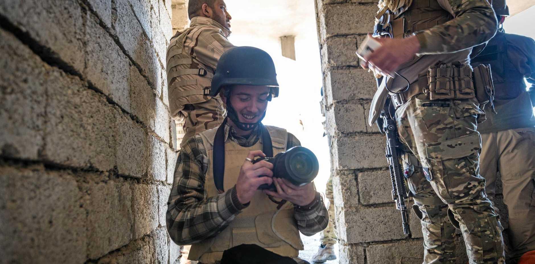 Josh McDonald in Iraq.