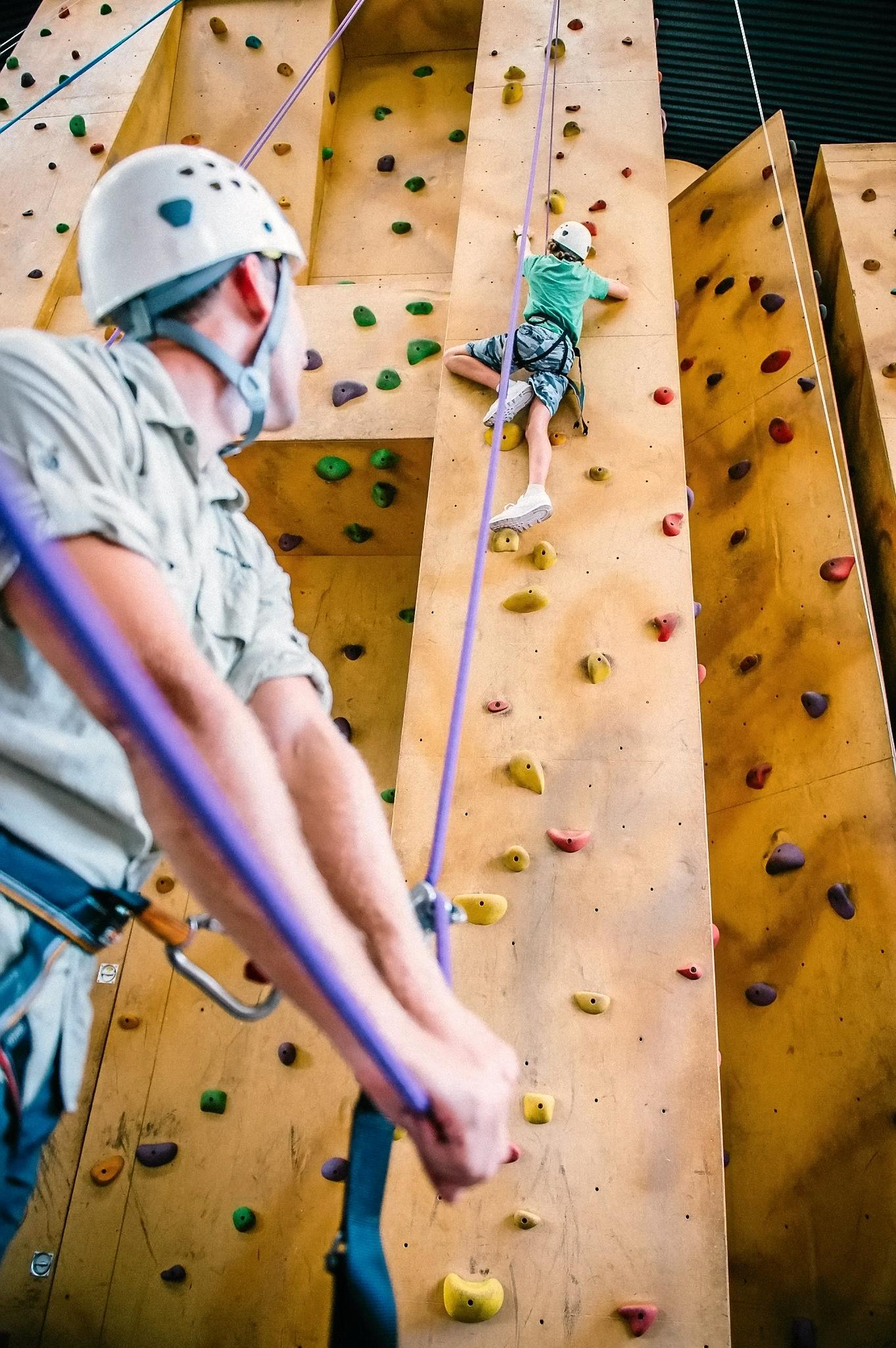 FRESH FACELIFT: The Mapleton climbing wall before its renovation over the 2016/17 summer holidays.