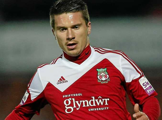 New Saints player Adrian Cieslewicz in action for former club Wrexham.