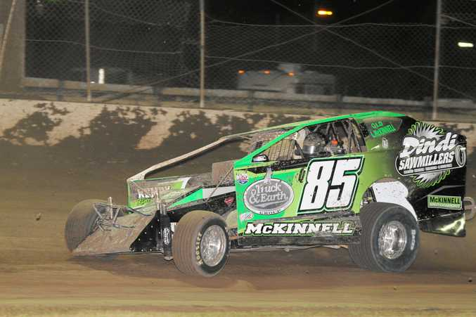 WINNER: Lee McKinnell was awarded the victory in the opening round of the Mr Modified Series at Castrol Edge Lismore Speedway
