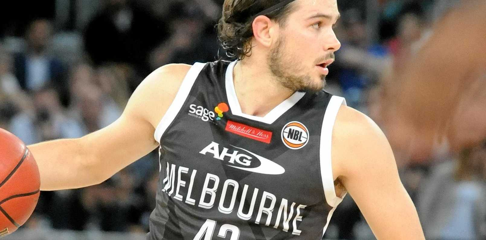 Chris Goulding of Melbourne United in action.