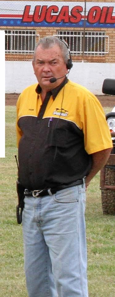 Lismore Speedway announcer Frank Inman.