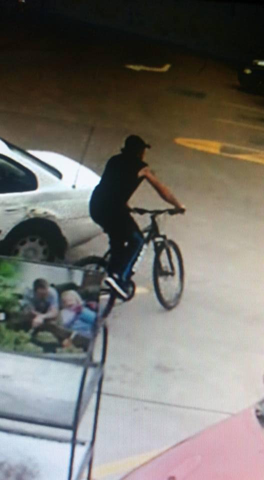 The man caught on Supa IGA Lowood's CCTV footage.