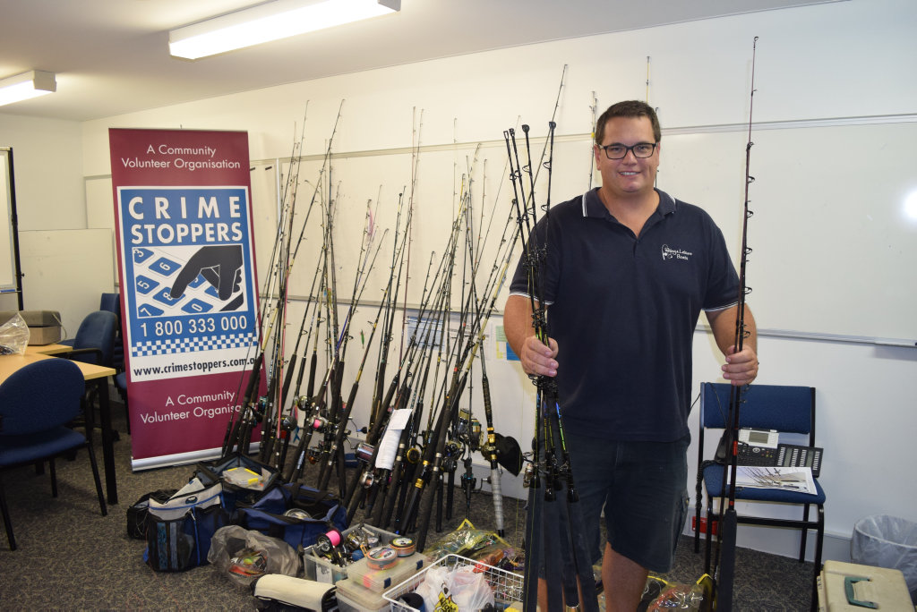 STOLEN RODS: Tim Stessl's rods, reels and tackle was among $50,000 worth of property allegedly stolen from a boat show in October.