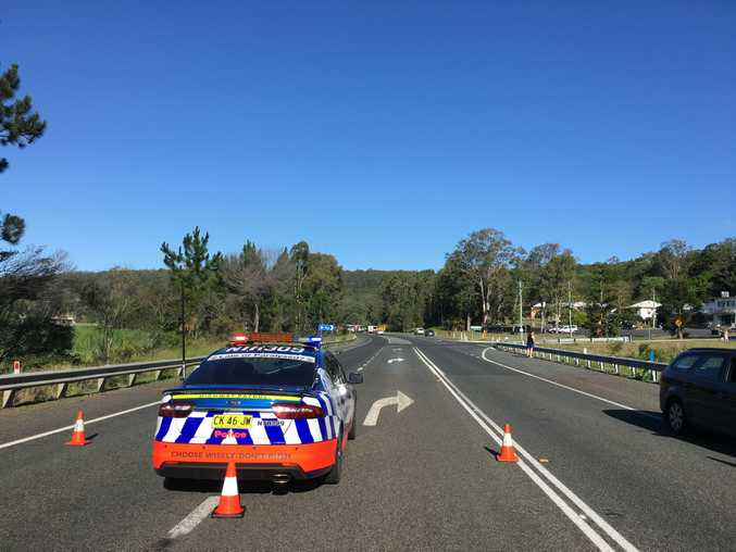 A crash involving at least two vehicles at Sheehys Lane, Tyndale, has closed the Pacific Highway in both directions.