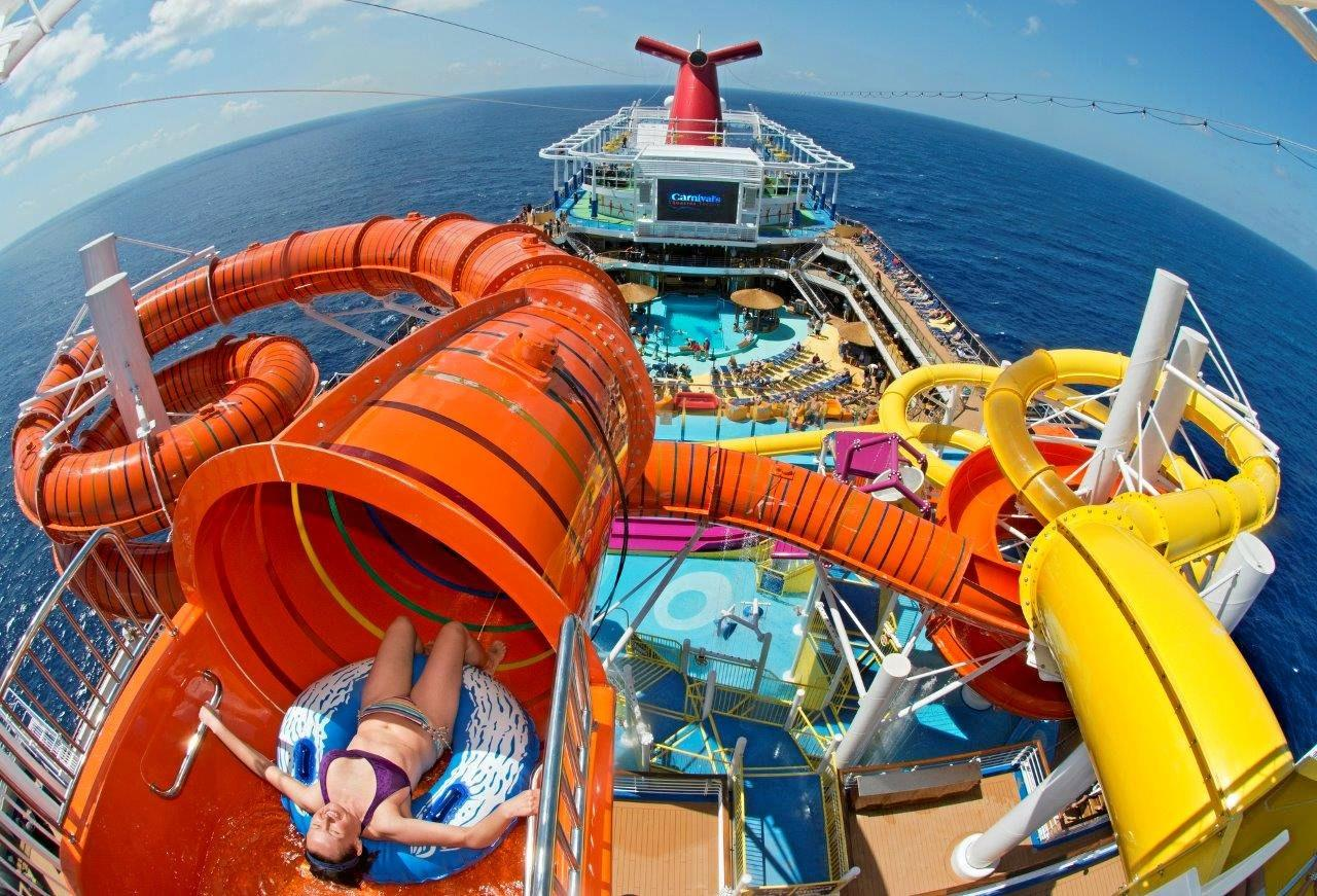 COLOURFUL CRUISE: Enjoy the WaterWorks Aqua park on-board Carnival Vista.