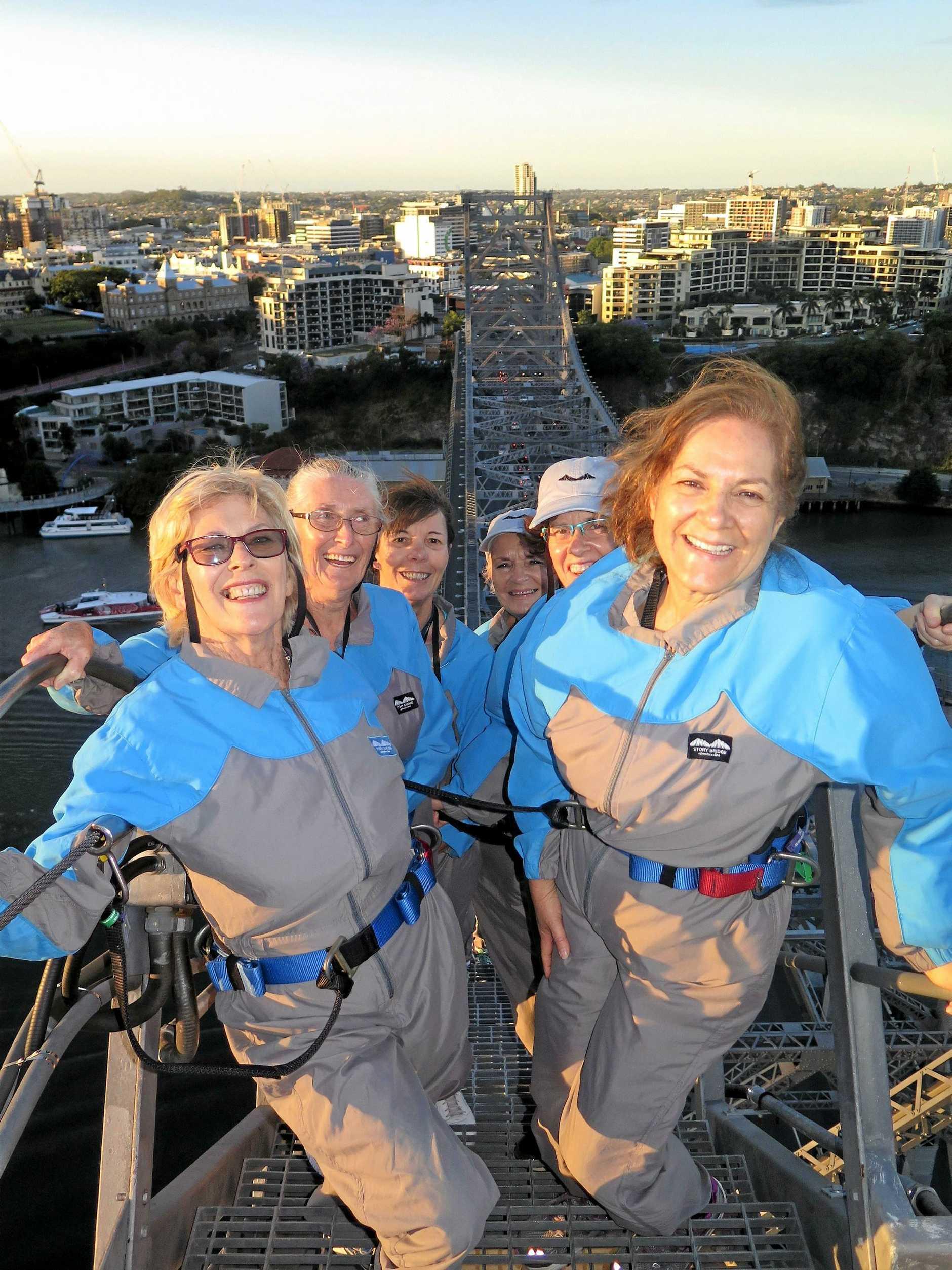 ADVENTURES AHEAD: Climbing the Storey Bridge was one of Helen Hensley's favourite activities.