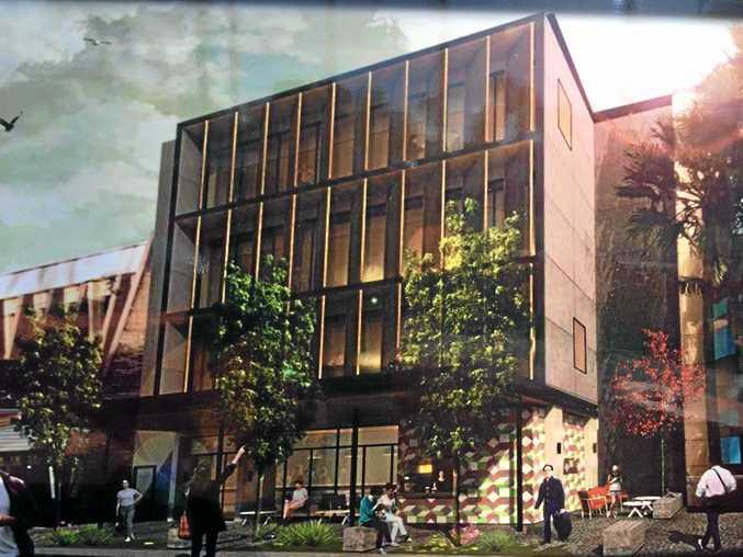 ON TRACK: A digital impression of the four storey Molesworth St office block.
