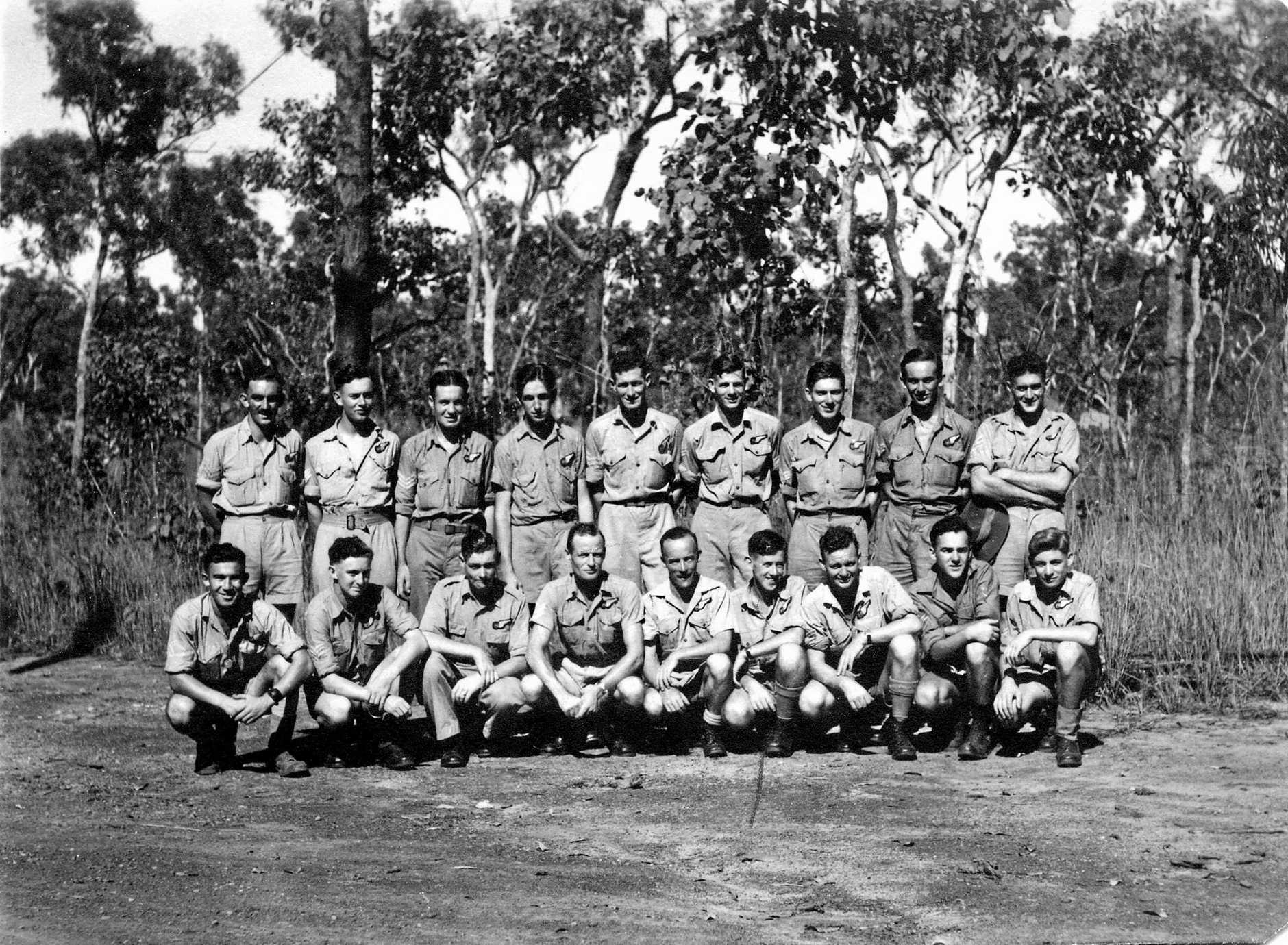 Don Mackay with a group of RAAF airgunners in 1944.