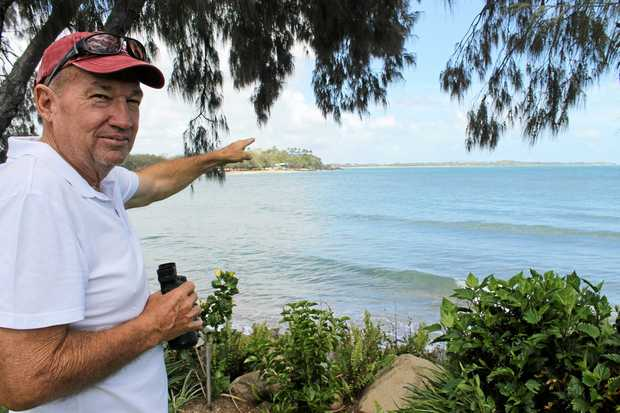 Gary Butcher spotted a crocodile about 3-4m long swimming off the coast of his home at Beach Road, Dolphin Heads.