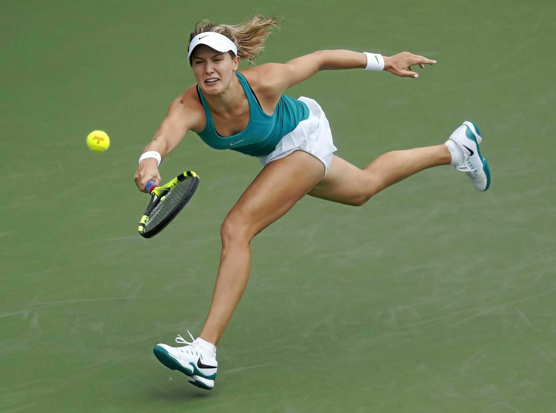 Eugenie Bouchard of Canada in action.