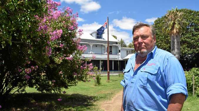 FARM LIFE: Dick Howard on his property at Swan Creek.