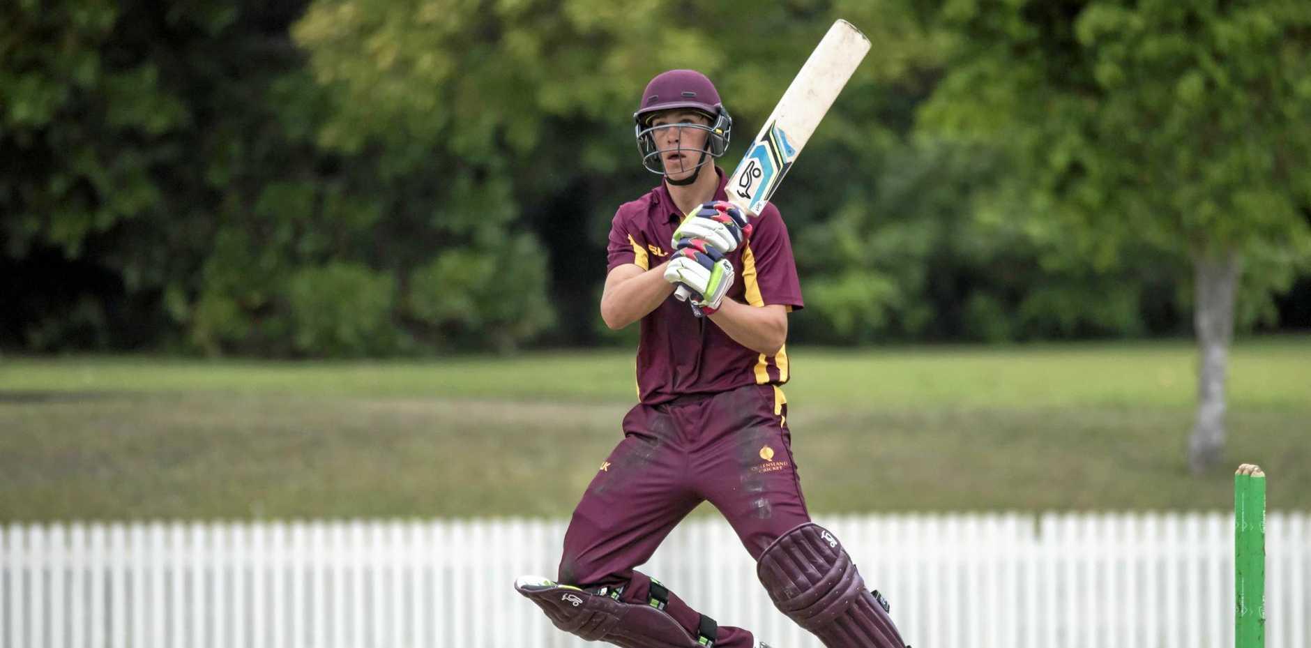 RUN SCORING MACHINE: Angus Lovell was player of the Australian under-17 championship.