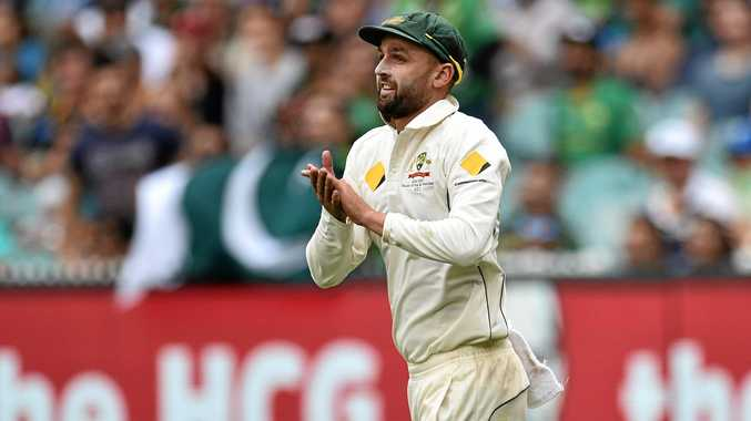 Nathan Lyon acknowledges the crowd during the Boxing Day Test match.