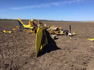 Crop-duster hit ground 'nose-first and flipped over'