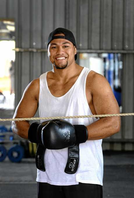 NEW YEAR: Ipswich boxer Faiga Opelu is turning professional in 2017.