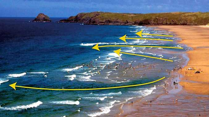 DEADLY: Rip channels which travel all the way beyond the surf zone are the most dangerous.