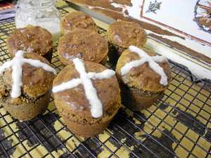 A terrible cross to bear so early on our fruit buns