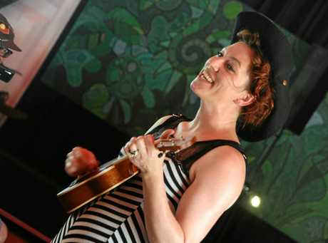FEARLESS: Musician and artist Amanda Palmer arrives at Woodford Folk Festival for the first time ahead of her highly anticipated shows.