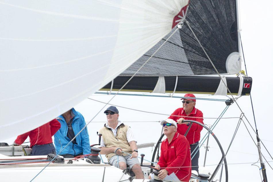 BRAVO: With Bob Robertson guiding the yacht.